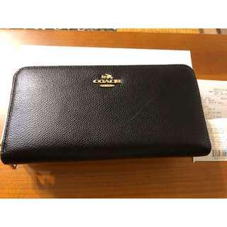 🚚 全新的,Coach 黑色皮夾,保証是正品,美國代購!