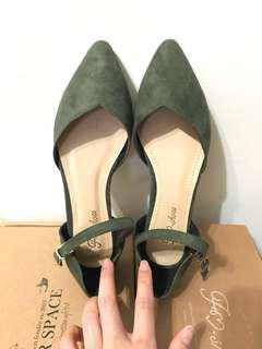 🚚 FM shoes 墨綠色娃娃鞋