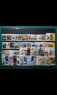 [已售五份,均一價$10]澳洲已使用郵票50枚不同