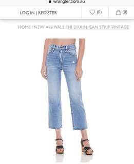 Wrangler hi birkin jeans