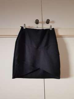 Missguided Black Bandage Skirt Size 8/S