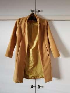Mustard Yellow Coat Size 8/S (has wool!)
