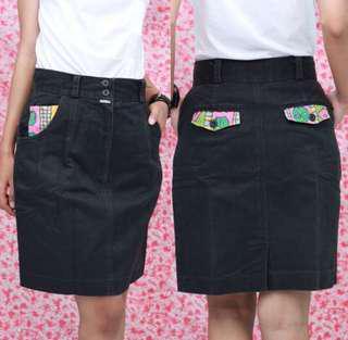 Jeans Skirt Black