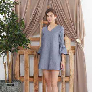 ea667642f728 Ninth Collective Xenia Babydoll Romper Dress in Denim Blue