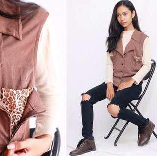 Leopard Vest Brown
