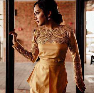 ⚜️ RENT DRESS⚜️QUEQOLLECTIONS GOLDEN DRESS⚜️ XS SIZE