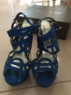 Bebe Electric Blue Promise Heels