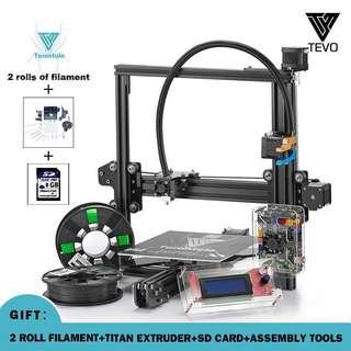 TEVO Tarantula 3D Printer Large Bed Dual Extrusion