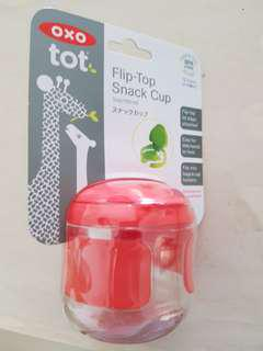 BN oxo tot flip top snack cup 150ml