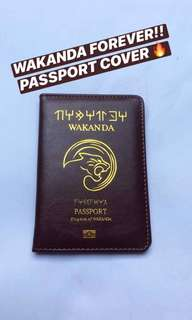 WAKANDA Passport Leather Cover