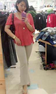 Cutbray pants krem