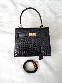 Kelly Style Bag (Real Crocodile)