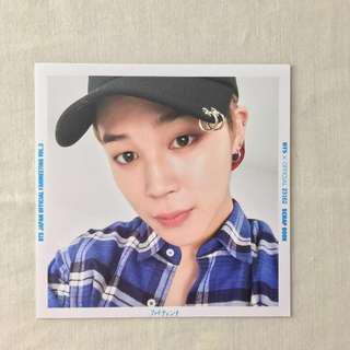 BTS Japan Official  FM Vol.3 JIMIN Scrapbook Photo
