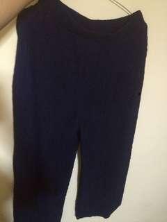 Pleated kulot navy