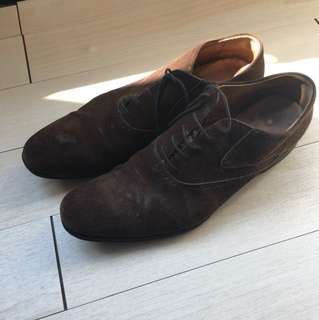 YSL Brown suede leather shoes