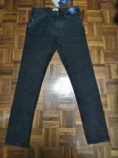 全新Pull & Bear slim comfort black jeans 牛仔褲 W31腰 黑色修身