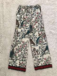 Tropical High waist satin Pajama pants