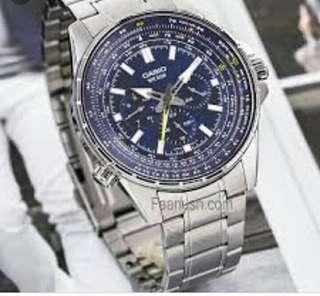 👍👍👍40% Off Brand New Original Casio Water Resistance Men Analog Metal Watch-6折全新行貨卡西歐男装防水鋼錶