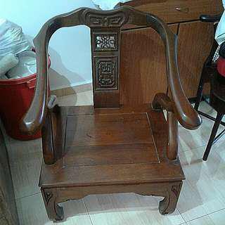 2 Teak Armchairs + 1 coffee table