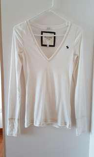 Abercrombie long sleeve stretch shirt top