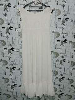 Zara long dress in white