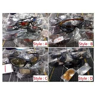 HK$15/1PC ~ 工廠貨尾, 清貨4款全新男女裝中性太陽眼鏡, D款可自行更換顏色鏡片 New Changeable Lens Sunglasses