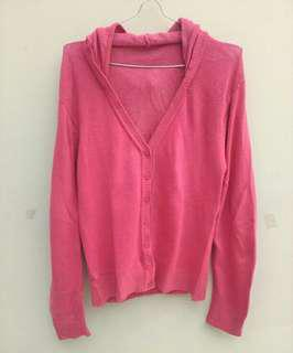 Sweater rajut outer pink