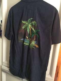 NEW! PULL & BEAR Beach Shirt Embroidery