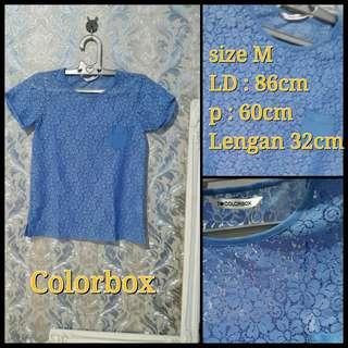 Colorbox brokat biru