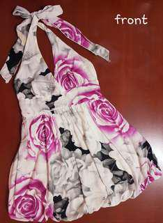 Hip Culture Floral Halter Dress for Ladies