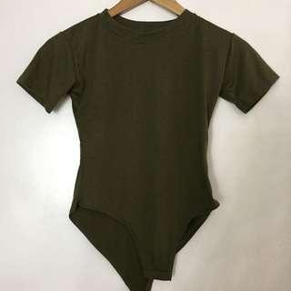 Olive Green Bodycon Shirt