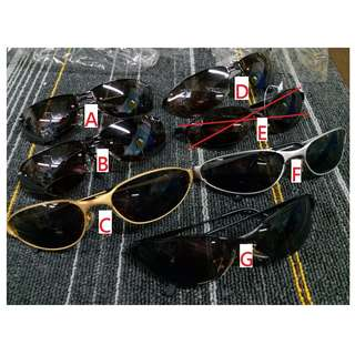 HK$10/1PC ~ CLEARANCE SALE ~ Sample Display Sunglasses 清貨全新樣辦貨, 太陽眼鏡display