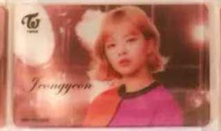wts jeongyeon wake me up transparent lottery pc