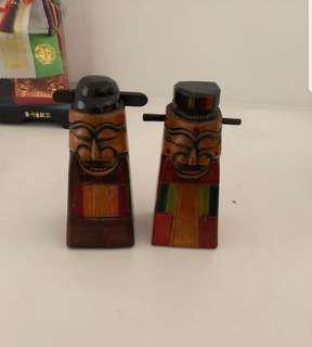 Twin Little Wooden Ornaments