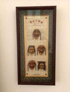 Framed Set of Ancient Masks