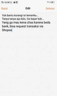 Bisa Transaksi via shopee ya sist