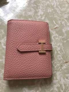 包郵 粉紅色短銀包
