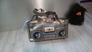 Golden Cassette Player Bag