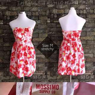 MOSSIMO floral bustier dress