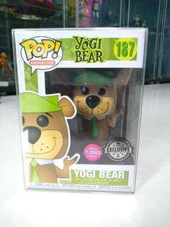 Funko Pop Flocked Yogi Bear Exclusive in Pop Protector