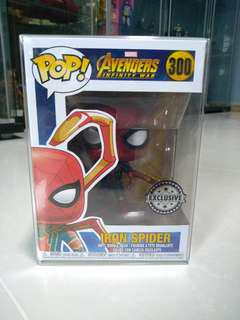 (Reserved)Funko Pop Iron Spider with Legs Exclusive with Pop Protector