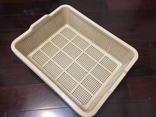 全新未使用 超耐用 雙層 木條 格盆 貓 兔 小動物適用 廁所 貓 砂盆