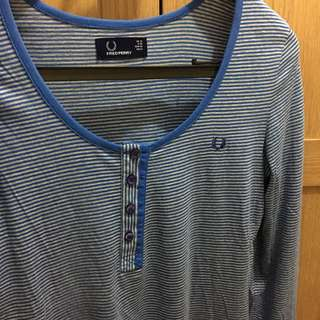 Fred Perry round neck striped top