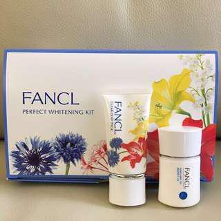 Fancl 美白套裝 防曬 深層清潔面膜