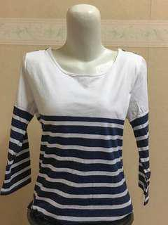 X Girl - Blue Strip Top