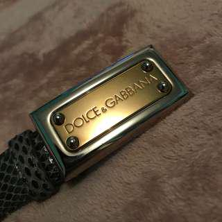 Dolce and Gabbana Snakeskin Belt