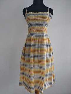 H&M Summer Yellow Stripe Dress