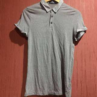 Topman Grey Polo Shirt