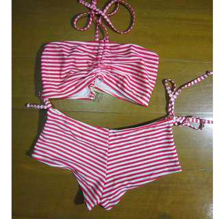red stripes 2 pc swimsuit