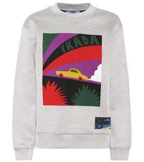 Prada SS18 Sweater Retro car print